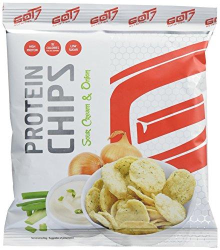 GOT7 Nutrition High Protein Chips, Sour Cream & Onion 24x23g