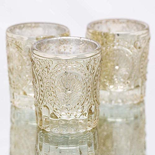 Richland Votive Holders Mercury Primrose Wedding Event Candle Glow Metallic Gold Set of 12 product image