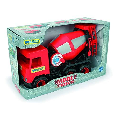 Tigres 32114 Auto middentruckConctere mixer in een doos, kleur rood, One Size
