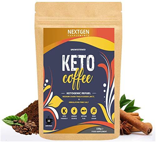 Keto Diet Drink   Bulletproof Coffee with Premium Coconut MCT Oil   Zero Carb, Sugar Free, Low Calorie Ketones Diet Drink   Cinnamon Flavour - 30 Servings