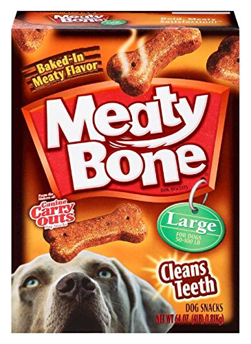 Meaty Bone Dog Biscuits, Large, 64 Ounce by Meaty Bone (2 Box)