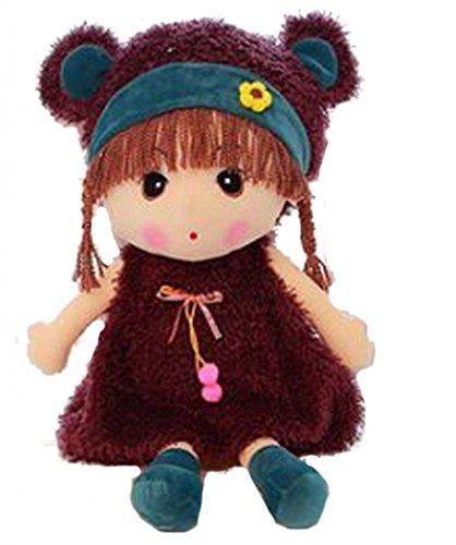 La Vogue Jouet Fille Enfant Poupées de chiffon Poupée et Mini Poupée Peluches Doudous Mignonne (violet)
