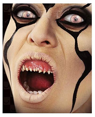 shoperama Boquillas de dientes pequeos terrorficos con pasta termoplstica reutilizable Alien, demonio, zombie, diablo para Halloween