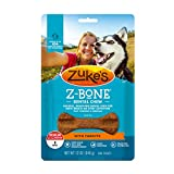 Zuke's Regular Z-Bone Grain Free Dental Chew Dog Treats With Carrots - 12 oz. Bag (82426)