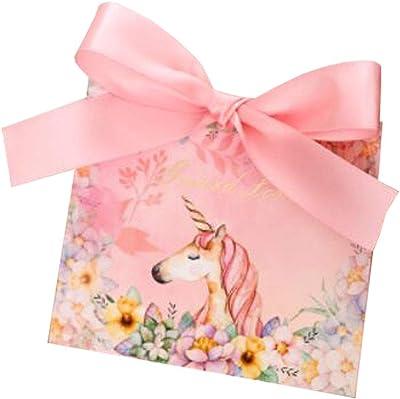 30pcs Decorative Treats Boxes Wedding Party Favor Box Candy Bag Chocolate Gift Boxes Happy Unicorn