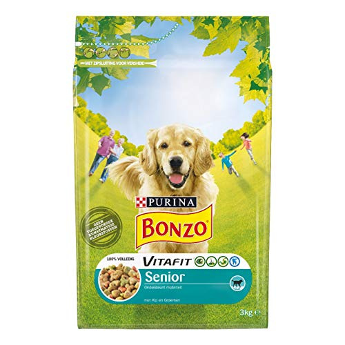 Bonzo Senior Hühnchen und Gemüse Standbeutel - Beutel 3 Kilo