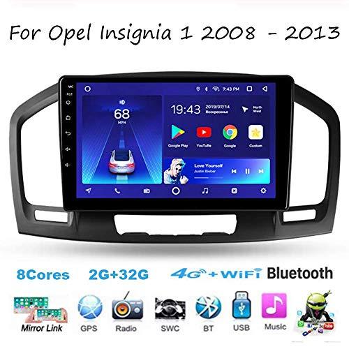 Android Car Stereo Radio Double DIN Sat Nav para Opel Insignia 1 2008-2013 Navegación GPS Unidad Principal de Pantalla táctil de 9 Pulgadas DSP RDS Reproductor Multimedia Receptor de Video