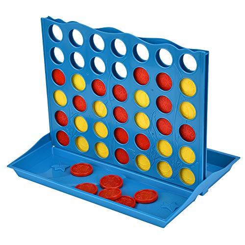 Hztyyier ABS 4 in einem Reihenspiel, Giant 4 in Einer Reihe verbinden, faltbares Brettspiel 4, klassisches Familienspielzeug, Reisebrettspiel für Kinder und Familie