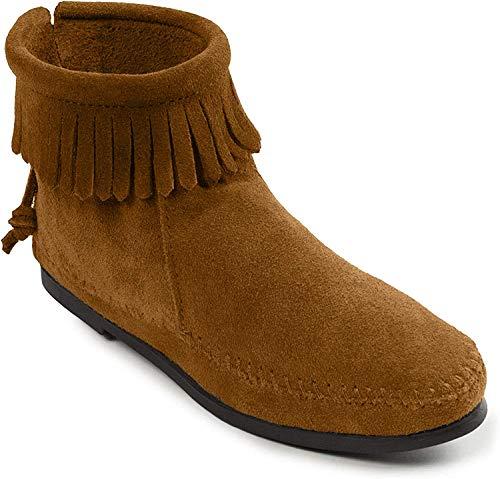 Minnetonka Damen Back Zip Boot Mokassin Stiefel, Braun (Brown), 38 EU