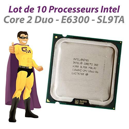 Intel – Lote de 10 procesadores Core 2 Duo E6300 1.86 GHz, 2 MB SL9TA 1066 MHz, LGA775