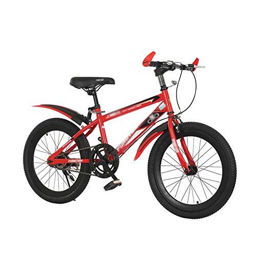 FINLR Bicicletta Bambini Ragazzi Mountain Bike per Bambini 3 Colori nella Taglia 18'20' Single Speed Brake Banner Wheel (Color : Red, Size : 20')