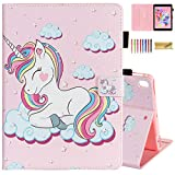Dteck Case for Apple iPad Pro (9.7 Inch, 2016 Release, Model Number A1673 A1674 A1675) - Protective Leather Smart Stand Wallet Flip Cute Cover Case with Auto Sleep Wake/Stylus Pen (Smile Unicorn)
