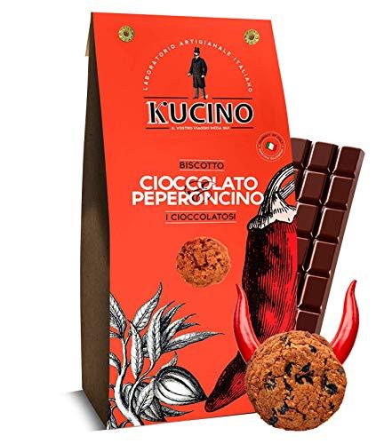 Kucino Schokolade und Chili Pfeffer Keks - 1 x 125 Gramm