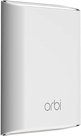 NETGEAR Orbi Outdoor Satellite (RBS50Y) ? Outdoor WiFi Coverage Weather-Resistant Simple Setup Works with Amazon Alexa Add up to 2500 sqft (Add-On Only)