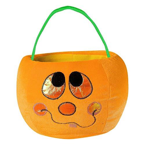 Widmann PK 12 Velvety Trick Or Treat Pumpkin Handbags-4 St