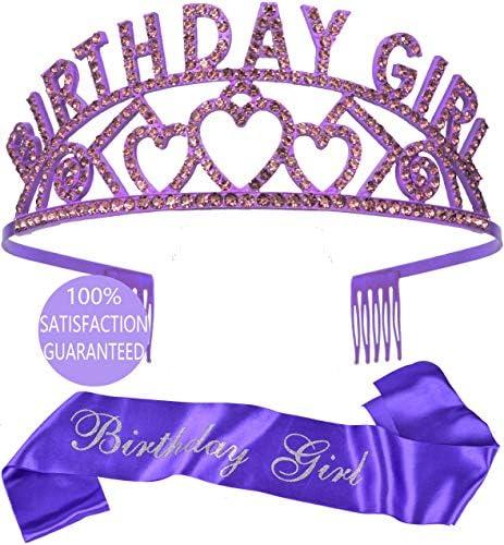 Birthday Decorations Birthday Girl Sash and Tiara Happy Birthday Happy Birthday Party Supplies product image