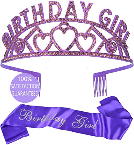 Birthday Decorations, Birthday Girl Sash and Tiara, Happy Birthday, Happy Birthday Party Supplies, Favors, Decorations 13th, 16th, 21st, 30th, 40th, 50th, 60th, 70th, 80th, 90th Birthday