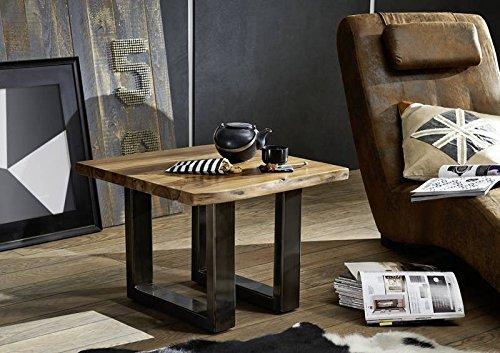 Table Basse carrée 60x60cm - Bois Massif de Palissandre laqué (Noble Unique) - Freeform #0312