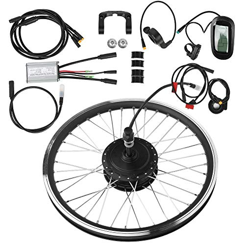 "T best Electric Bike Conversion Kit, 36V 250W 20""KT-LCD6 LCD High Power Motor Instrument Mountain Bicycle Electric E Bike Conversion Kit (Front Drive)"