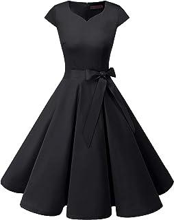 DRESSTELLS dames jurken 1950s Vintage Kap mouwen Rockabilly Jurken Hepburn stijl cocktailjurken