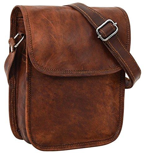 Umhängetasche Ledertasche Handtasche Vintage Braun Leder