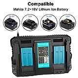 HLL Chargeur De Batterie Double 4A Charge BL1830 Courant 14.4V 18V BL1815 BL1430 BL1420 DC18RC DC18RD Outils Électriques DC18RA