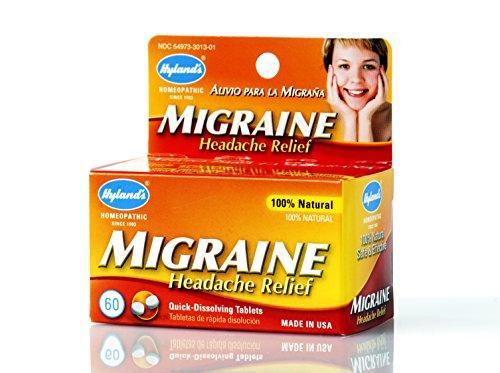 Hyland's Migraine Headache Relief Tablets, Natural Migraine Relief, 60 Count