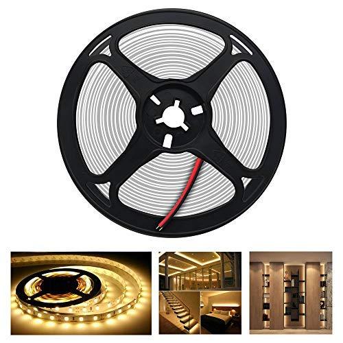 Arotelicht 5M 300 LEDs 5050SMD LED Leiste Strip Stripe Band Streifen Lichtleiste Lichterkette Lichter, 12V 60LEDs/M (warmweiß, Nur 5M Strip, IP20)