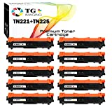 (10-Pack) TG Imaging (4xBlack+2xCYM) Compatible Toner Cartridge for Brother TN221 TN225 TN221/225 Sets Used for HL-3150CDW HL-3170CDW MFC-9130CW MFC-9340CDW Printer