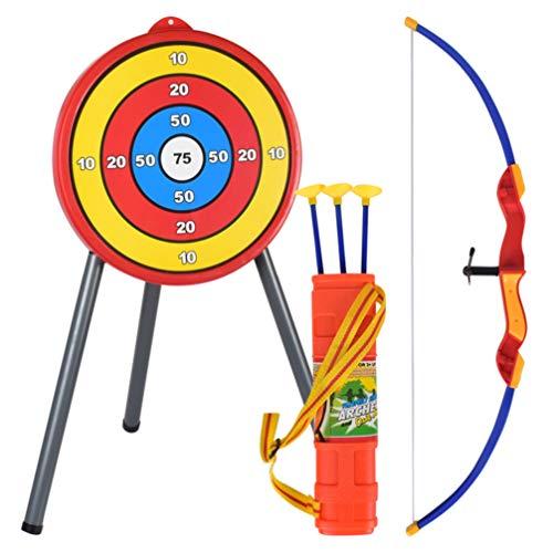 LIOOBO Bogenschießen gesetzt Kinder Bogen Pfeil Spielen Spielzeug Outdoor-Jagd-Spiel mit Zielen Bogenschießen Schießen gesetzt