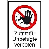 """Betriebsausstattung24® Warn-Kombischild """"Zutritt für Unbefugte verboten""""  ..."""