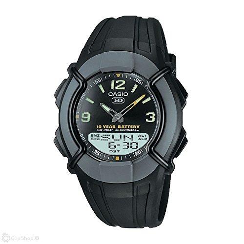 CASIO Collection HDC-600-1BVES - Reloj de caballero de cuarzo, correa de resina...