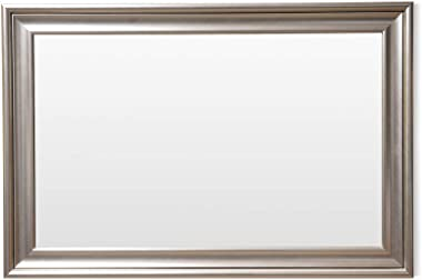 Frame N Art Decorative Wooden Finish Water Proof Vanity Wall Mirror Glass for Living Room, Bathroom, Bedroom (CGC-56) (24 x 3