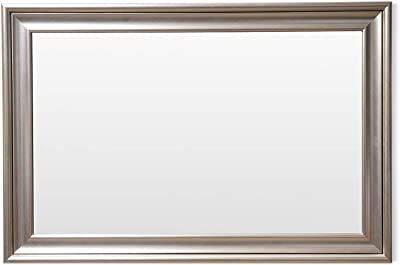 Frame N Art Decorative Wooden Finish Water Proof Vanity Wall Mirror Glass for Living Room, Bathroom, Bedroom (CGC-56) (24 x 36)