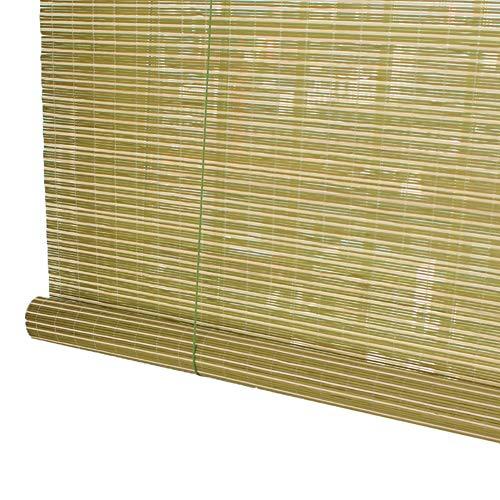 H.ZHOU Al Aire Libre de bambú Prima de privacidad persianas de Ventana Interior y Exterior Patio Jardín Gazebo, persiana Verde del apagón Sol con Ganchos Parasol G5105 (Size : 100×130CM)