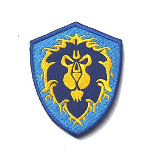 Minkoll Stickerei Patch Abzeichen, WOW World Alliance/Horde Armband Moral taktische Patches (blau)