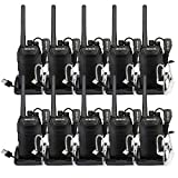 Retevis RT27V VHF Walkie Talkies for Adults Rechargeable MURS 5 Channel Handheld Vox Two Way Radios with Covert Air Acoustic Earpiece(Black,10 Pack)