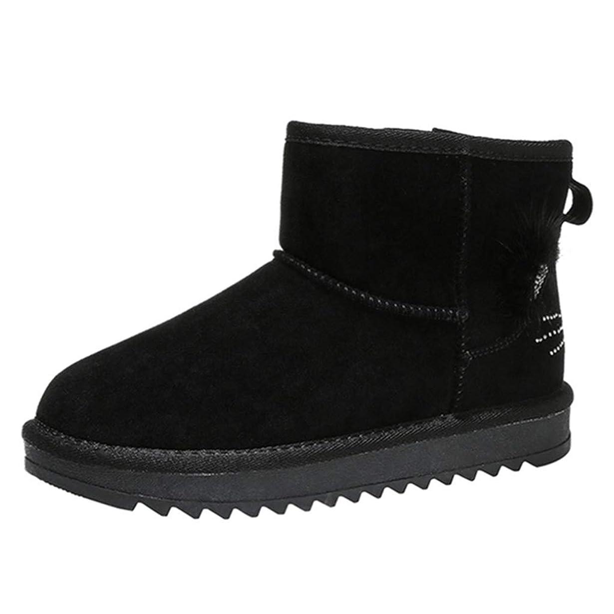 自体集める程度可愛い スノーブーツ レディース 毛皮ブーツ 歩きやすい もこもこ 裏ボア 雪靴 防寒 防滑 ウィンターブーツ 暖かい アウトドアシューズ ショットブーツ ムートンブーツ 保温 軽量 厚底 フラット 滑り止め 短靴