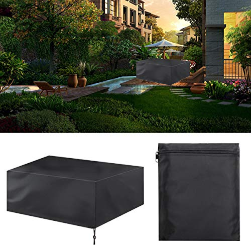 Furniture Cover Patio Outdoor Furniture Sets Cover Durable Waterproof Dustproof For Garden Table And Chair Cover Black
