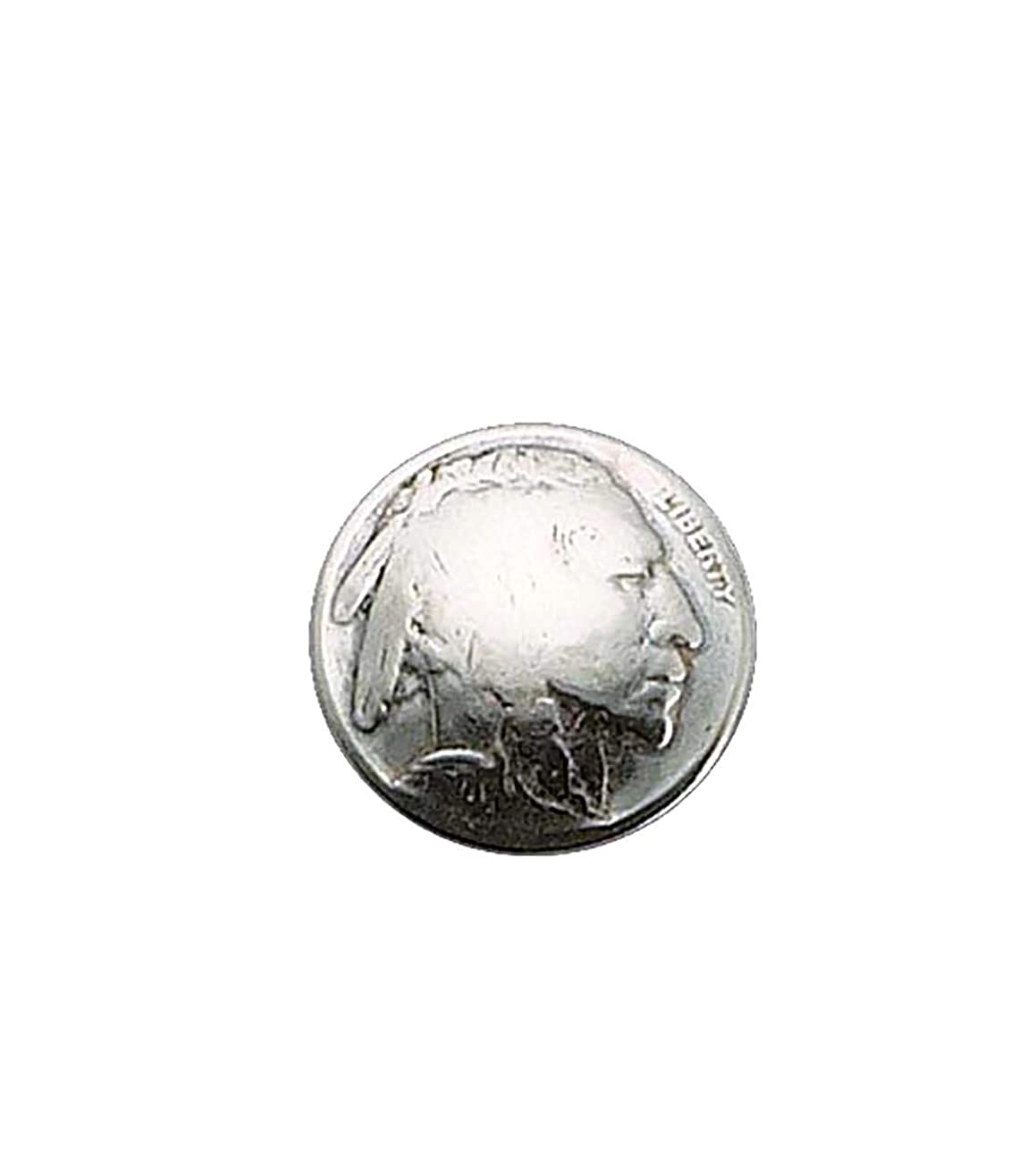 Nickel Genuine Indian-Head Coin Button Pack of 4 Findings
