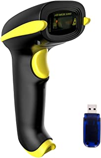 NADAMOO Barcode Scanner Compatible with Bluetooth & 2.4GHz Wireless Connection Connect Mobile Phone, Tablet, Computer, POS, Workwith Windows, Mac OS, Linux, Android, iOS