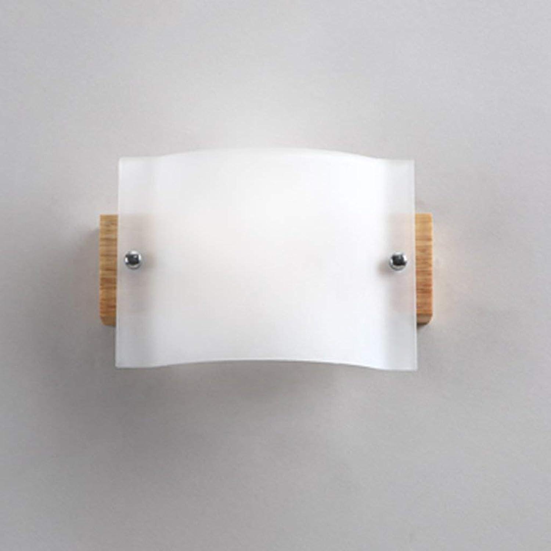 Reeseiy Beleuchtung Moderne Minimalistische Wandleuchte Massivholz Led Hotel Flur Schlafzimmer Badezimmer Dekorative Beleuchtung Single Head 19 Cm  12 Cm Home Wall Lighting