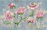 Papel Pintado Pared 3D Fotomurales Flor De Peonía Rosa Acuarela Mural Pared Pintado Papel Tapiz Salón Dormitorio Tv Fondo Decoración De Pared 350x256cm
