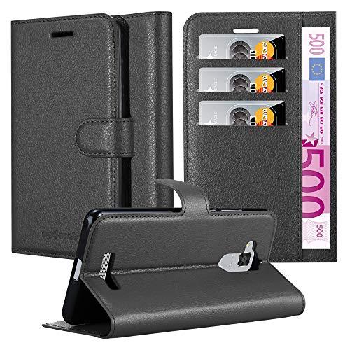 Cadorabo Hülle für Asus ZenFone 3 MAX (5,2 Zoll) in Phantom SCHWARZ - Handyhülle mit Magnetverschluss, Standfunktion & Kartenfach - Hülle Cover Schutzhülle Etui Tasche Book Klapp Style