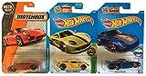Hot Wheels 2016 Porsche 3-Car Bundle - Yellow Carrera GT, Porsche 993 GT2 & Matchbox Metal 2014 Porsche Cayman