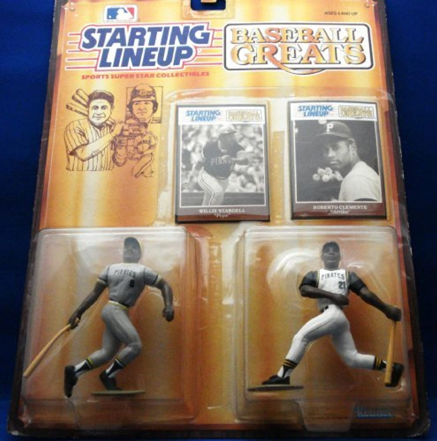 Starting Lineup Baseball Greats Willie Stargell and Roberto Clemente by Starting Line Up