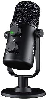 MAONO USBコンデンサーマイク マイク PC マイク マイクスタンド 単一指向性 ミュートボタン付き モニタリング機能 ヘッドホンと接続可能 録音/生放送/YOUTUBE/ゲーム実況におすすめ (ブラック)