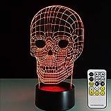 Lumière Stéréo Veilleuse avec Télécommande Led Touch Lumière Au Xénon 7 Couleur Table De Table Convertible Lampe De Table...