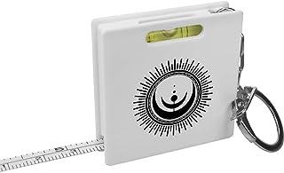 'Cosmic Moon Symbol' Keyring Tape Measure / Spirit Level Tool (KM00021114)