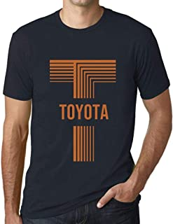Men's Vintage Tee Shirt Graphic T Shirt Letter T Countries and Cities Toyota Navy